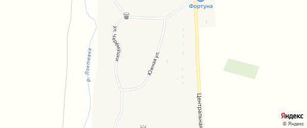 Южная улица на карте села Усть-Таловки с номерами домов