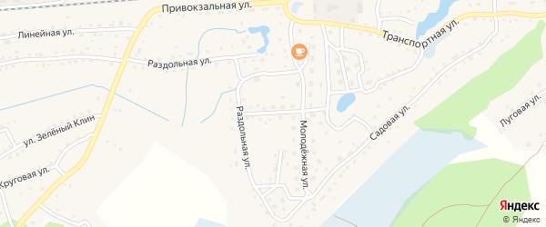 Молодежная улица на карте станции Ребрихи с номерами домов