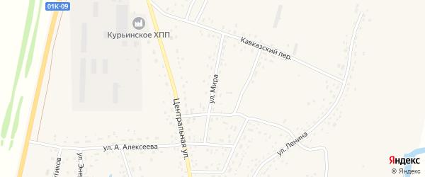 Улица Мира на карте села Курьи с номерами домов