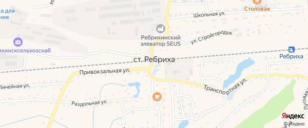 Лесная улица на карте станции Ребрихи с номерами домов