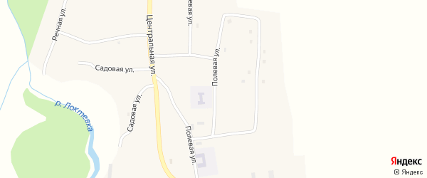 Полевая улица на карте села Усть-Таловки с номерами домов