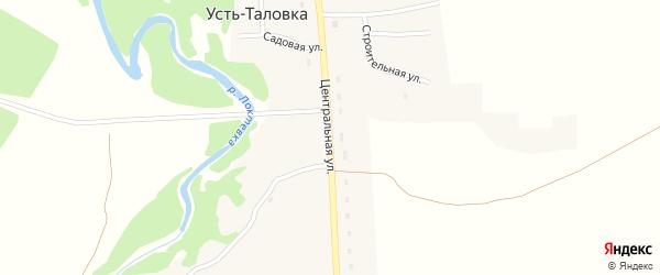 Центральная улица на карте села Усть-Таловки с номерами домов