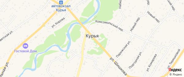 Строительный переулок на карте села Курьи с номерами домов