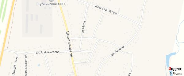 Улица им М.Т.Калашникова на карте села Курьи с номерами домов