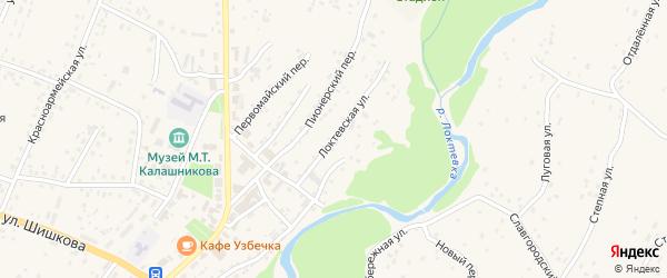 Локтевская улица на карте села Курьи с номерами домов