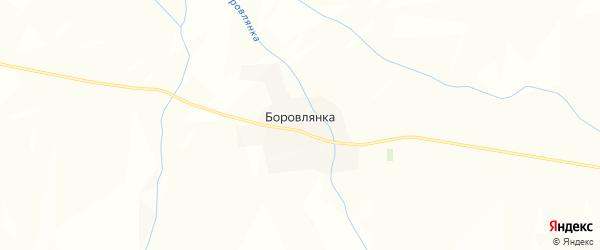 Карта поселка Боровлянки в Алтайском крае с улицами и номерами домов