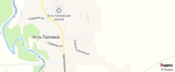 Строительная улица на карте села Усть-Таловки с номерами домов