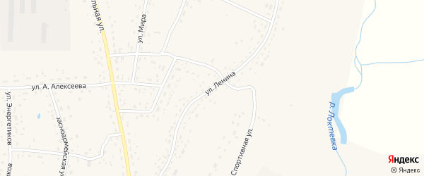 Улица Ленина на карте села Курьи с номерами домов
