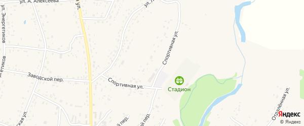 Спортивная улица на карте села Курьи с номерами домов