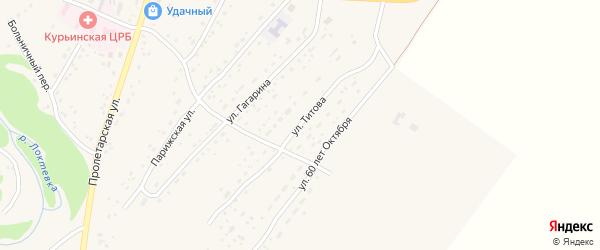 Улица Титова на карте села Курьи с номерами домов