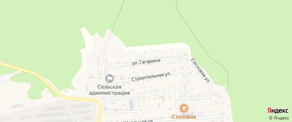 Улица Гагарина на карте села Ребрихи с номерами домов