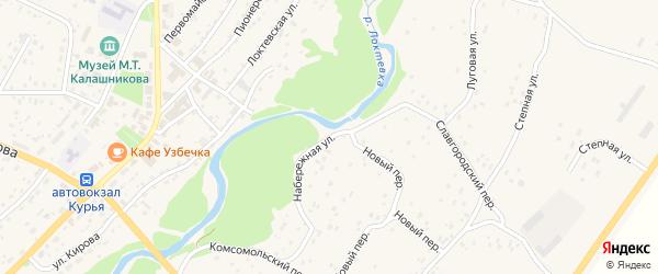 Набережная улица на карте села Курьи с номерами домов