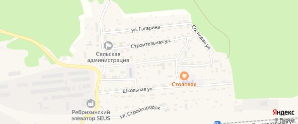 Касмалинская улица на карте станции Ребрихи с номерами домов