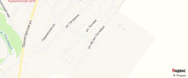 Улица 60 лет Октября на карте села Курьи с номерами домов