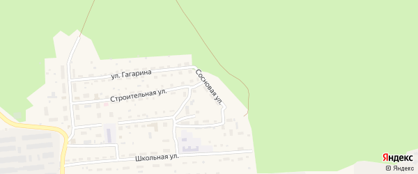 Сосновая улица на карте станции Ребрихи с номерами домов