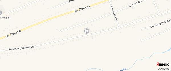 Революционная улица на карте села Ребрихи с номерами домов
