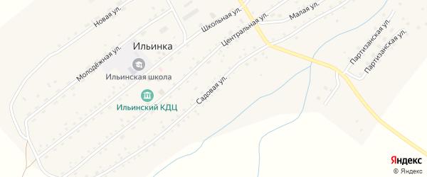 Садовая улица на карте села Ильинки с номерами домов
