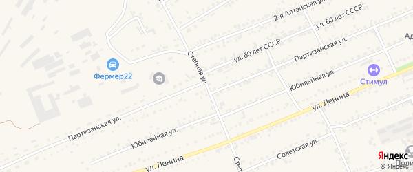 Степная улица на карте Дальнего разъезда с номерами домов