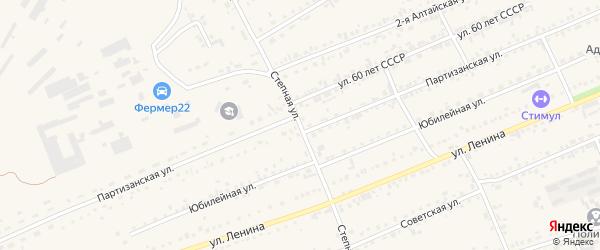 Степная улица на карте села Ребрихи с номерами домов