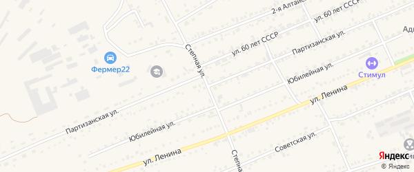 Партизанская улица на карте села Ребрихи с номерами домов