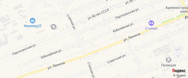 Юбилейная улица на карте села Ребрихи с номерами домов