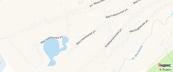 Фестивальная улица на карте села Ребрихи с номерами домов