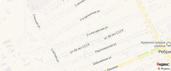 2-я Алтайская улица на карте села Ребрихи с номерами домов