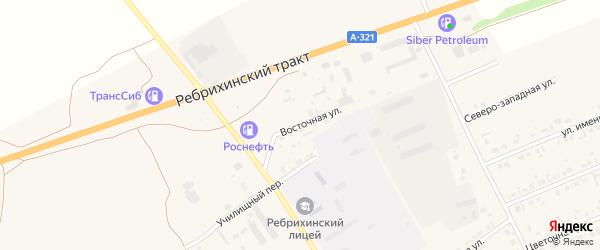 Восточная улица на карте села Ребрихи с номерами домов