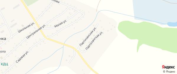 Партизанская улица на карте села Ильинки с номерами домов