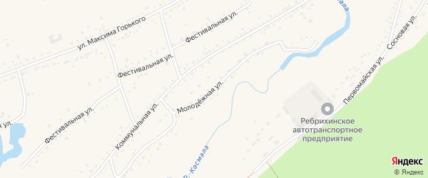 Молодежная улица на карте села Ребрихи с номерами домов