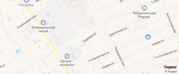 Садовая улица на карте села Ребрихи с номерами домов