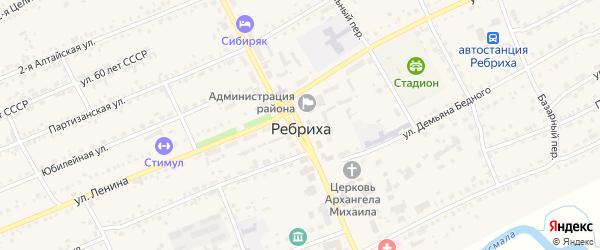 Проспект Победы на карте села Ребрихи с номерами домов