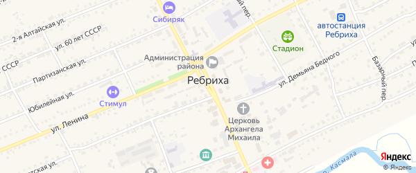 Трактовая улица на карте села Ребрихи с номерами домов