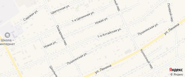 1-я Алтайская улица на карте села Ребрихи с номерами домов