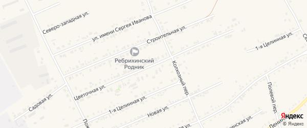 Цветочная улица на карте села Ребрихи с номерами домов