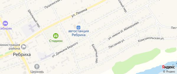 Базарный переулок на карте села Ребрихи с номерами домов