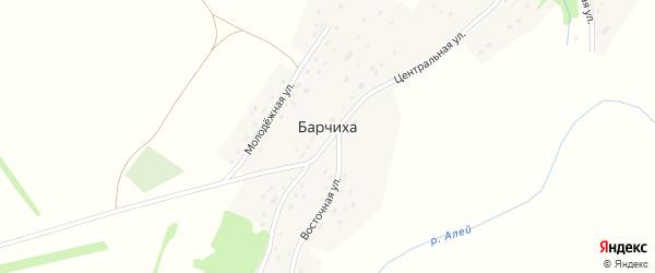 Восточная улица на карте поселка Барчихи с номерами домов