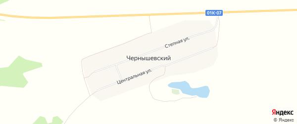 Карта Чернышевского поселка в Алтайском крае с улицами и номерами домов