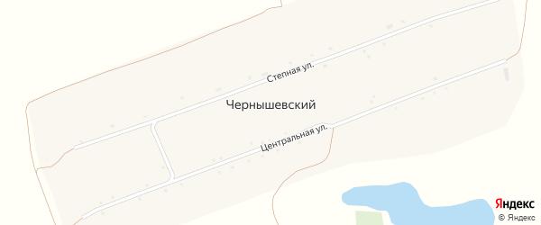 Степная улица на карте Чернышевского поселка с номерами домов