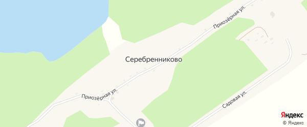 Приозерная улица на карте села Серебренниково с номерами домов