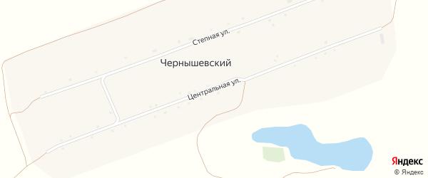 Центральная улица на карте Чернышевского поселка с номерами домов