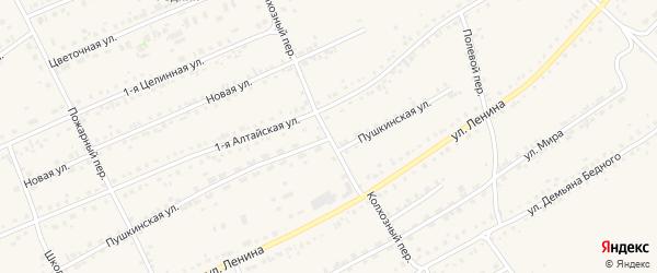 Колхозный переулок на карте села Ребрихи с номерами домов