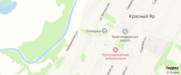 Улица Белоусова на карте села Красного Яра с номерами домов