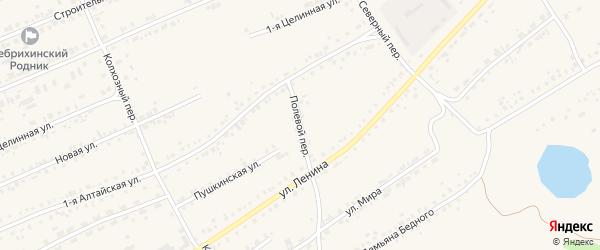 Полевой переулок на карте села Ребрихи с номерами домов