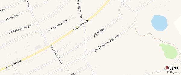 Улица Мира на карте села Ребрихи с номерами домов