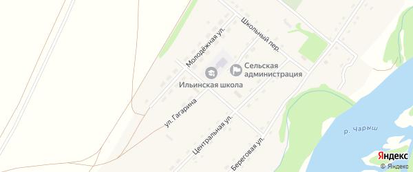 Улица Гагарина на карте села Ильинки с номерами домов