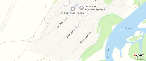 Центральная улица на карте села Ильинки с номерами домов