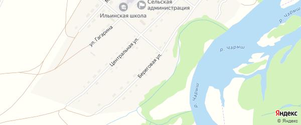 Береговая улица на карте села Ильинки с номерами домов