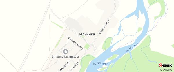 Карта села Ильинки в Алтайском крае с улицами и номерами домов