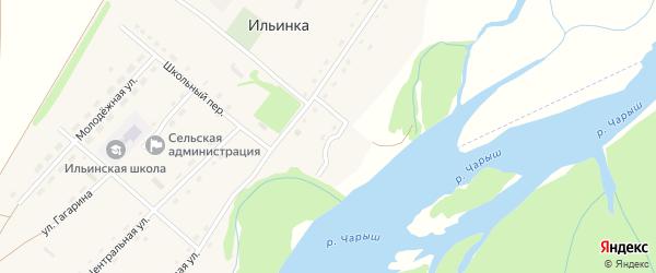 Луговой переулок на карте села Ильинки с номерами домов